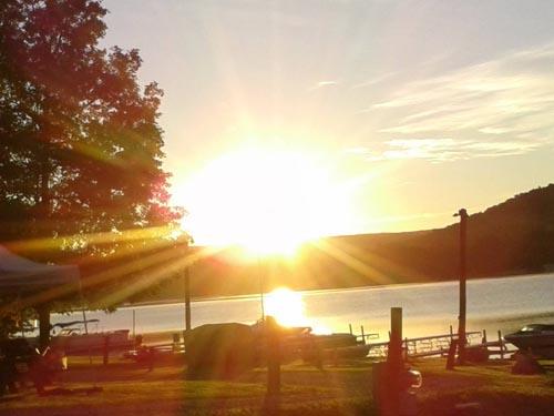 sunset on cayuta lake