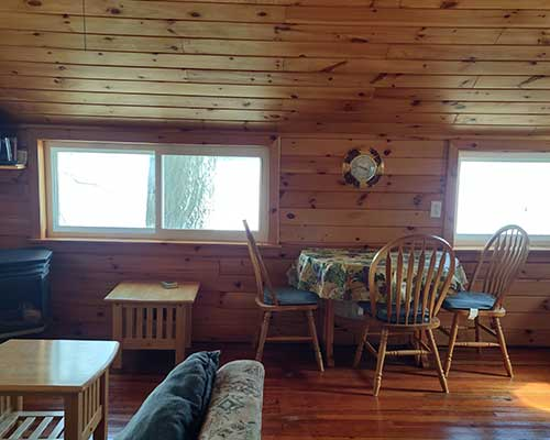 inside Cool-Lea Camp cabin