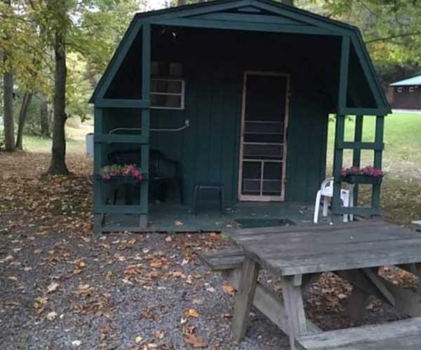 outside of Cool-Lea Camp cabin